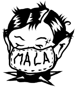 Logo Mala de Cora x La Gente Mala
